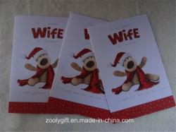 La neige de haute qualité en relief les cartes-cadeaux paillettes Voeux de Noël et l'enveloppe