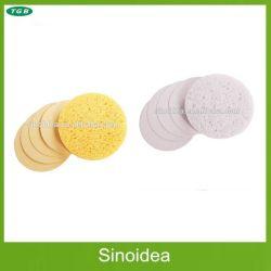 De samengeperste Natuurlijke Kosmetische Spons van de Cellulose, Gezichts Schoonmakende Spons