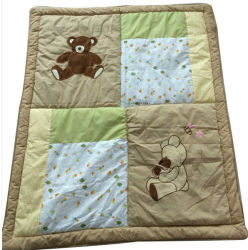 Baby Unisex From 중국 Factory를 위한 곰 Embroidery Quilt