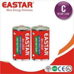 Pilha de zinco de carbono de Fábrica C R14p Um2 Bateria