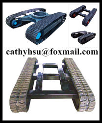 Custom Built Rubber Crawler Track Onderwagen Met Laadvermogen 1-30 Ton