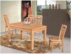 식당 객실 견고한 목재 가구, 고무 나무 식당 테이블