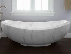 Pierre Salle de bains en marbre blanc baignoire pour baignoire de massage