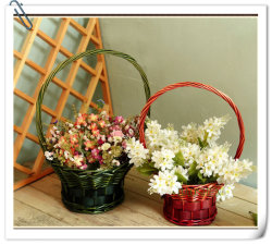 Sauce mimbre cesta de picnic de almacenamiento de regalo de flores