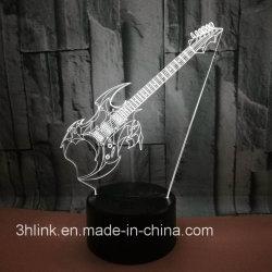 新しいデザインLEDギター7ホーム装飾のための変更カラー接触ライト電気スタンド