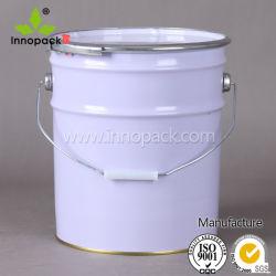 페인트 화학용용 링 잠금 장치가 있는 금속 버킷/배럴