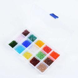 Kristallglas des Ls-Kasten-DIY bördelt die Schmucksachen, die Entdeckung-Distanzstück lose Raupen bilden