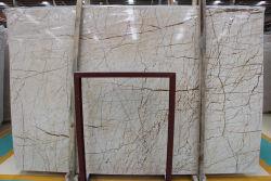 カウンタートップのための黄線Whitemarble Sofitaの金の大理石の平板