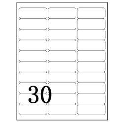 """30 فوق ليزر & نافث حبر علامة مميّزة, يتيح قشرة عنوان علامة مميّزة, 2.625 """" [إكس] 1 """", 100 صفوف لكلّ حق, [ميركسفت] 5160 طبعة"""