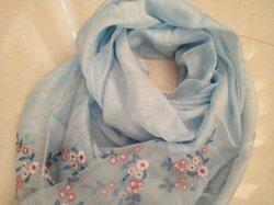 Sjaal van het Borduurwerk van de Zijde van de lente/van de Zomer de Dunne Wol Geweven