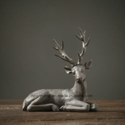 Lifelike Environmetal Polyresin ciervo moteado Estatua de la decoración del hogar