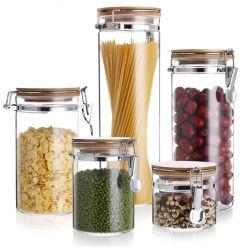 Glas legt Glas-Honig-Glas-Kerze-Glas mit Edelstahl-Faltenbildung-Kappe in Essig ein