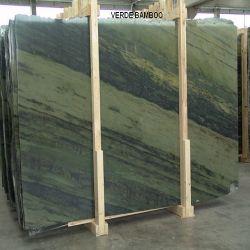 花こう岩の平板のVerdeの良質の磨かれた自然な緑のタケ