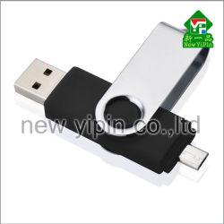 Nueva interfaz del teléfono Yipin giratorio de doble cara Mini USB regalos de promoción de la unidad flash USB de plástico