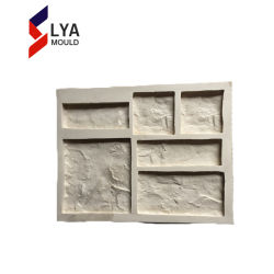 Muffa concreta delle mattonelle della parete di pietra del cemento del silicone del poliuretano