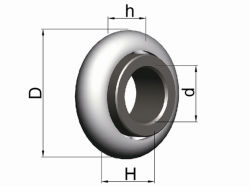 Шариковый подшипник с пластмассовой внутреннее кольцо роликового затвора для принадлежностей