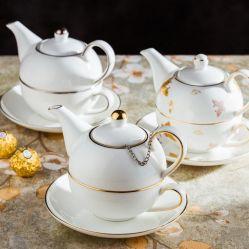 陶磁器のコーヒー鍋セットギフトのコーヒーセット陶磁器の夕食セット