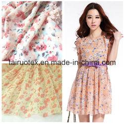 Poliestere 100% Printed chiffon per Lady Dress Fabric