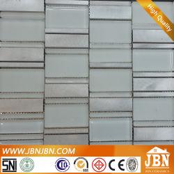 La decoración del hogar de pared de baño Atlantique Super mosaico de vidrio de color blanco puro (M855053)