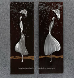 Home Deco를 위한 공정한 Lady 3D Aluminum Relievo Wall Art