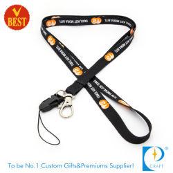 Outil de titulaire de la carte personnalisée de sublimation avec cordon rétractable Téléphone prix d'usine corde à boucle de sécurité