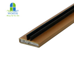 Boîtier en PVC Intumescant Joint ignifuge bande de vitre de porte avec le milieu de l'aile