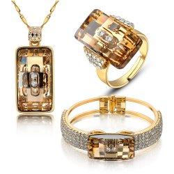 سعوديّ نوع ذهب [رهينستون] ميل تصميم نساء يتزوّج مجوهرات مجموعة