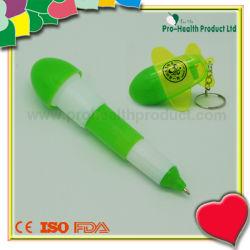 Publicidad plegable de plástico Bolígrafo con llavero