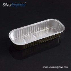 [ألومينوم فويل] وعاء صندوق غطاء مستطيل وعاء صندوق مخبز زورق طبق أرز ياباني وعاء صندوق
