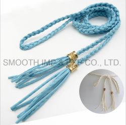 Мода фантазии леди оплетка Tassel ремень привода вспомогательного оборудования платье шторки из текстиля