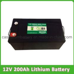 Ciclo profundo 200AH Las baterías de ión de litio de 12V 200Ah LiFePO4 de la batería