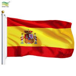 de Spaanse die Vlag van 90X150cm, de Vlag van Spanje in China wordt gemaakt