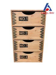 Старинная Интерьер деревянный шкаф с 4 выдвижными ящиками