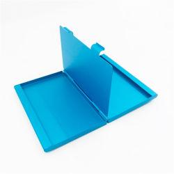 Bleu en métal plaqué personnalisé Double-Layer titulaire de la carte d'affaires