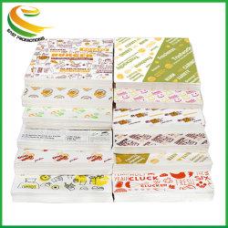 Commerce de gros logo imprimé personnalisé et de la taille de la sécurité alimentaire Grade Burger papier sulfurisé Cire d'enrubannage de charcuterie de papier couché