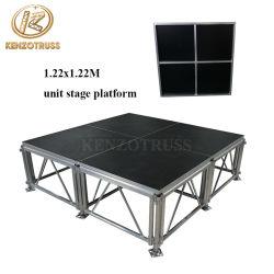 調整可能なポータブルステージ木製ステージプラットフォームアルミニウム