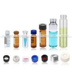 gc와 HPLC 방법을%s 명확한 호박색 색깔을%s 관 유리제 Autosampler 작은 유리병