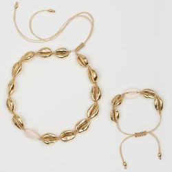 Form-Schmucksache-gesetzter Shellchoker-handgemachte Legierungs-Shell-Halskette