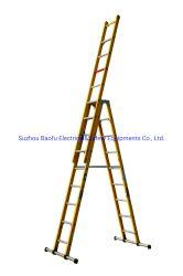 35kv de gele de 3-sectie van de Glasvezel Ladder van de Uitbreiding van de Combinatie