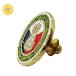 Venda de fábrica acabamento personalizado de ouro de Bronze medalha de metal do pino de lapela emblema do cidadão