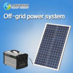 de ZonneMacht van de Zonne-energie van het Systeem 1solar van de Batterij van het Lithium van het Systeem van de ZonneMacht van het van-netHuis 120ah 500W AC/DC (poly-Si 100W)