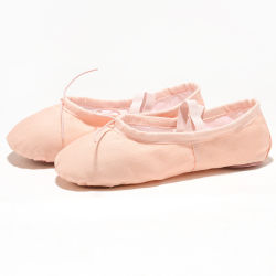 Vendita All'Ingrosso High Quality Canvas Dance Shoes Ballet Shoes Elastic For Ballerina Dancing Women Girls