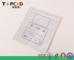 La impresión personalizada con cierre de cremallera resellables Mylar Plata bolsas de papel de aluminio