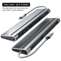 Port USB de type C mâle vers USB 3.0*3*2 HDMI++Type-c +d'amarrage de charge Date