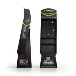 Aufbereitete Material-schwarze Papierbildschirmanzeige-Zahnstange mit Haken-und Diverses-Vorteilen und Enden-Förderung