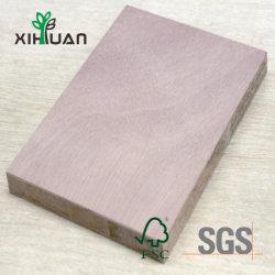 Haut/Middle/Conseil de bloc de qualité inférieure avec placage de bois naturel