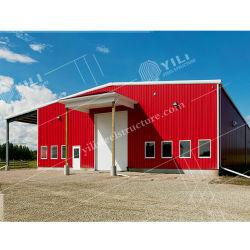 Magazzino prefabbricato della struttura del blocco per grafici d'acciaio/memoria industriale strumento/della tettoia