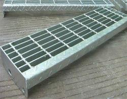 Rejilla de acero galvanizado para la estructura de acero Escaleras Escalera