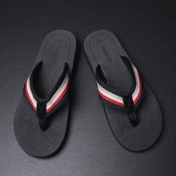 Nueva moda Wholeslae zapatillas planas, los hombres Playa Flip Flop zapatillas tejidas en verano, la tira de espuma EVA Chanclas zapatillas verano