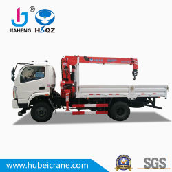 4X2 HBQZ Cargo Truck 4 tonnes mini grues hydrauliques de la flèche télescopique à partir de gros fournisseurs d'usine de construction